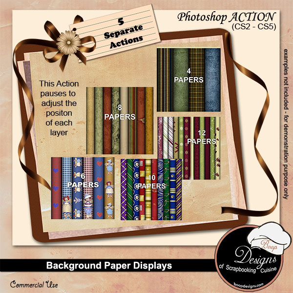Background Paper Displays ACTION by Boop Designs