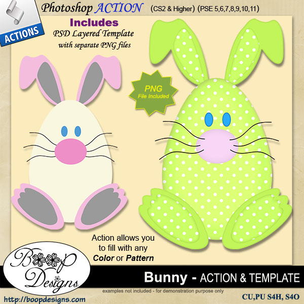 Bunny Rabbit Egg ACTION by Boop Designs
