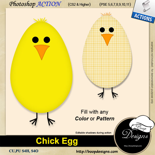 Chick Egg ACTION by Boop Designs