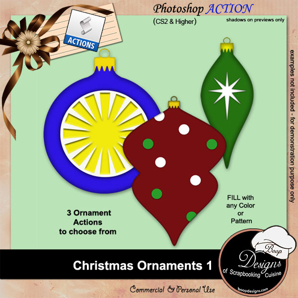 Christmas Ornaments I ACTION by Boop Designs