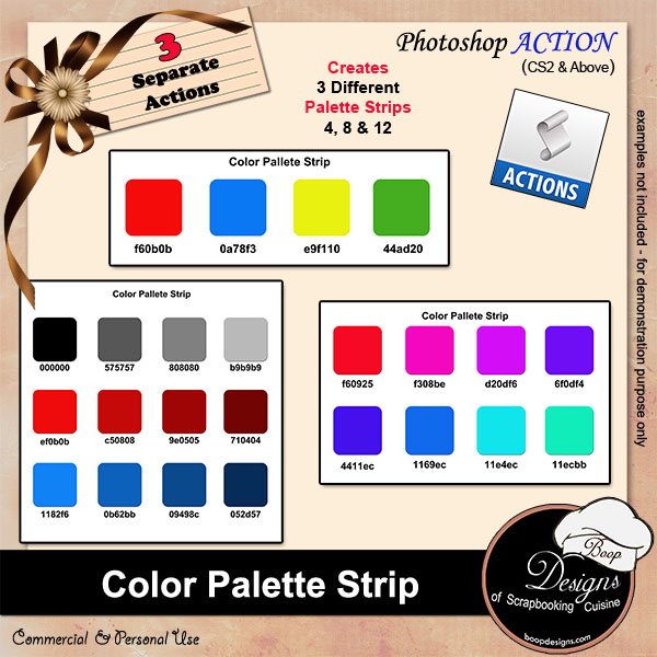 Color Palette Strips ACTION by Boop Designs