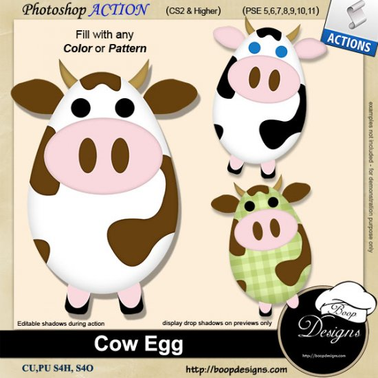 Cow Egg ACTION by Boop Designs
