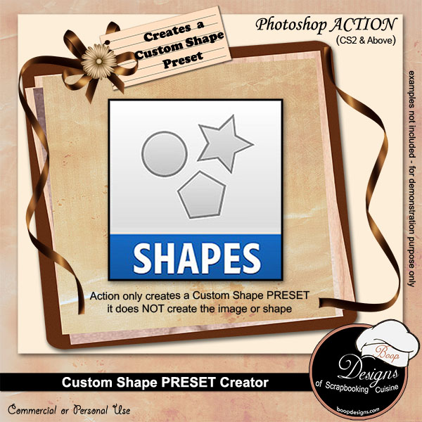 Custom Shape Preset Creator ACTION by Boop Designs
