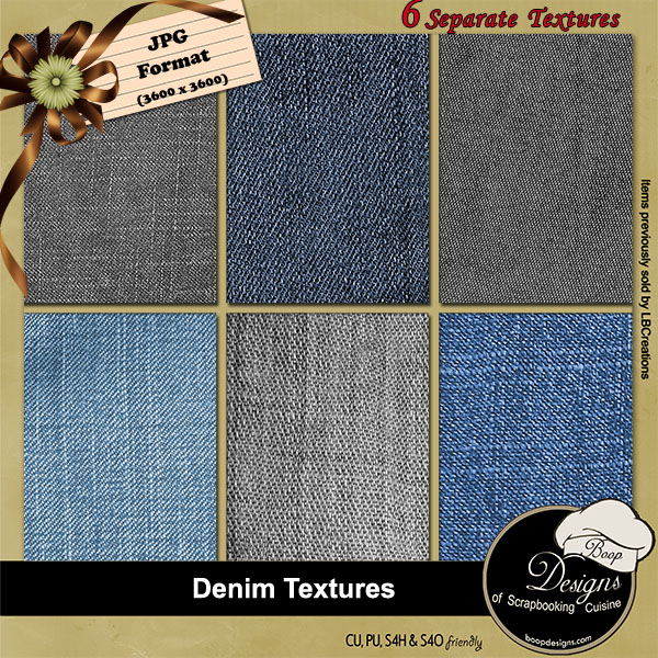 Denim Textures by Boop Designs