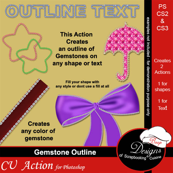 Gemstone Outlines ACTION by Boop Designs