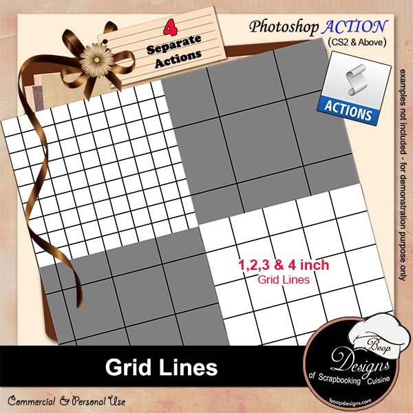 Grid Lines ACTION by Boop Designs