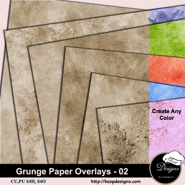 Grunge Paper Overlays 02 by Boop Designs