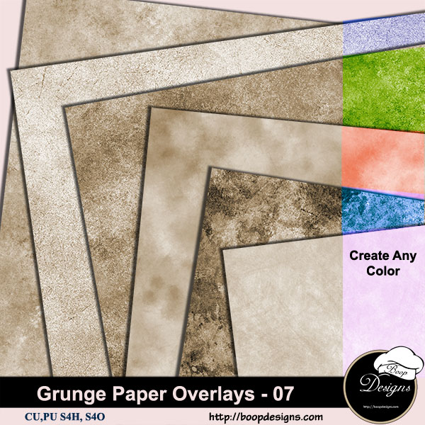 Grunge Paper Overlays 07 by Boop Designs