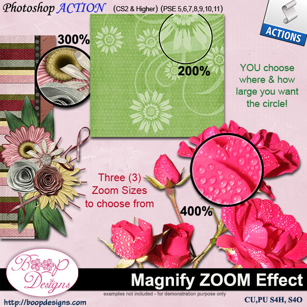 Magnify ZOOM Effect ACTION by Boop Designs