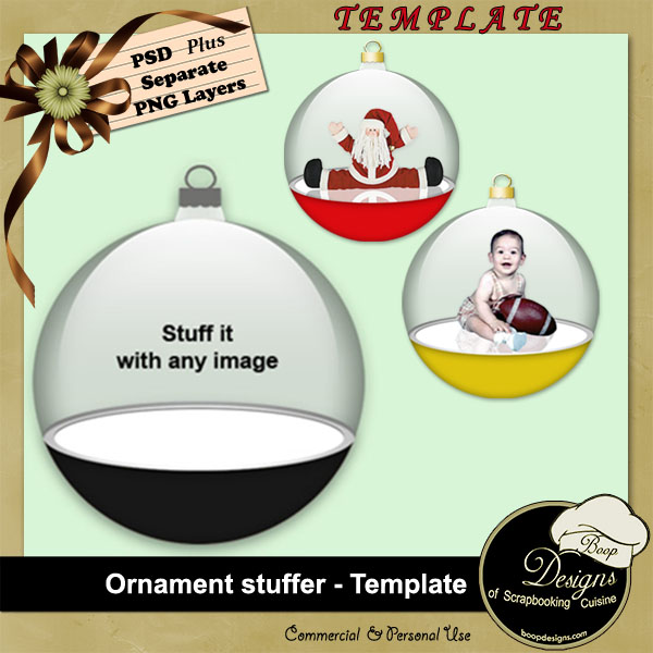 Ornament Stuffer TEMPLATE by Boop Designs