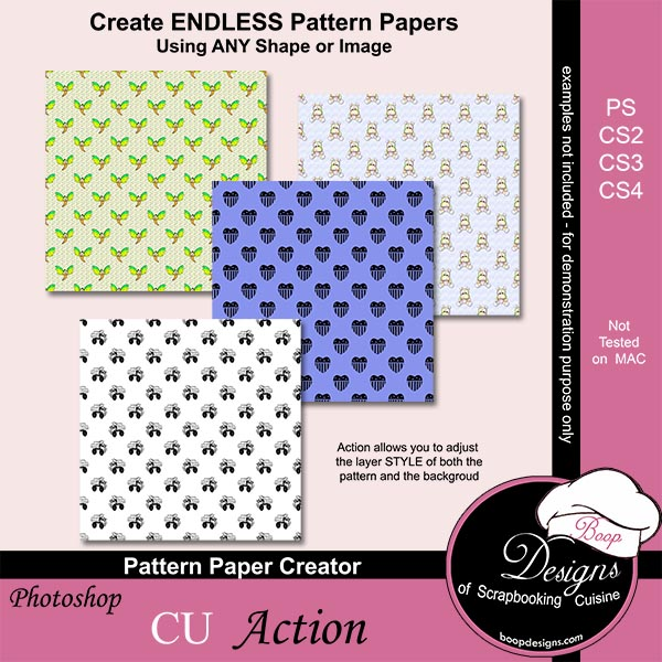Pattern Paper Creator ACTION by Boop Designs