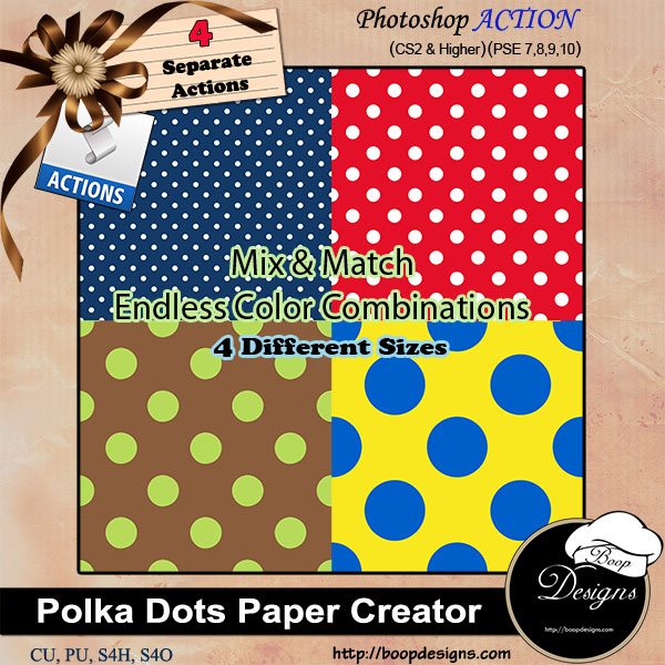 Polka Dot Paper Creator ACTION by Boop Designs