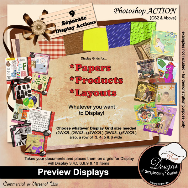 Preview Displays ACTION by Boop Designs