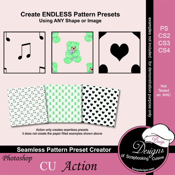 Seamless Pattern Preset Creator ACTION by Boop Designs