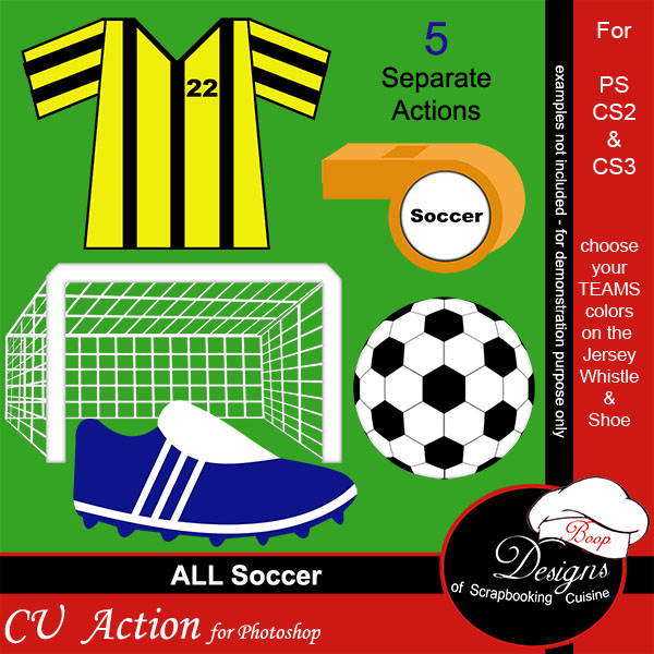 Soccer ACTION by Boop Designs