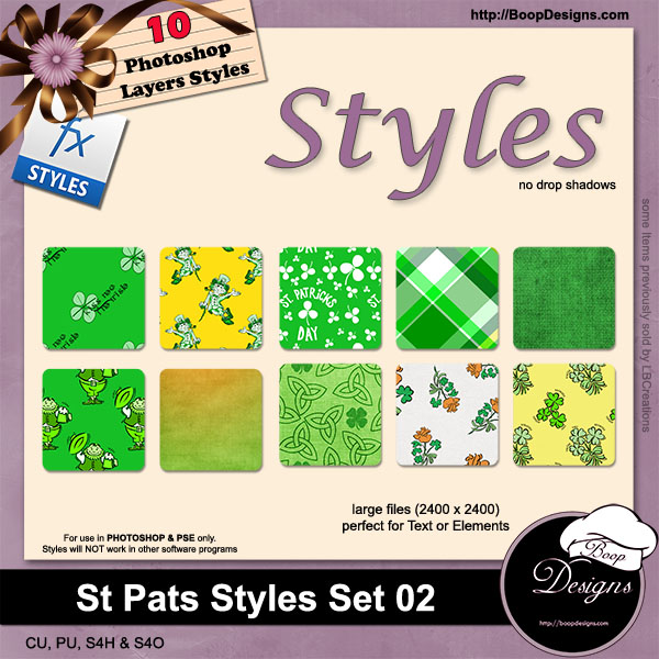 St Pats STYLES 02 by Boop Designs