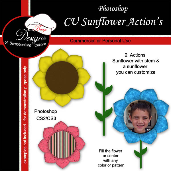 Sunflower Frame ACTION by Boop Designs