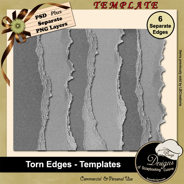 Torn Edges TEMPLATES by Boop Designs