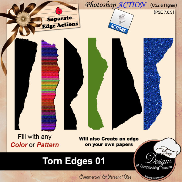 Torn Edges 01 ACTION by Boop Designs