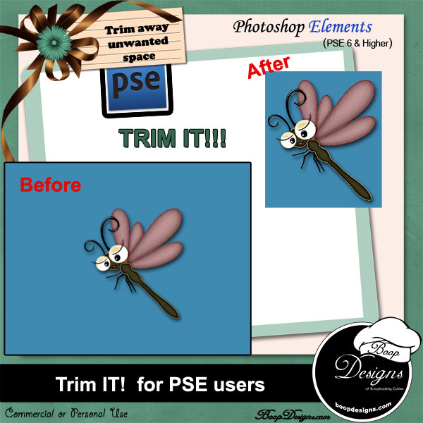 Trim It for PSE users ACTION by Boop Designs