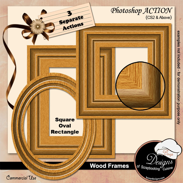 Wooden Frames ACTION by Boop Designs