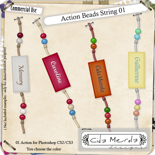 Beads String 01 Action by Cida Merola