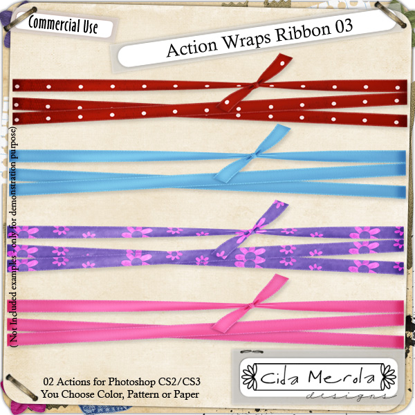 Wraps Ribbon 03 Action by Cida Merola