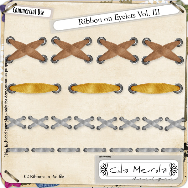 Ribbon Eyelets 03 by Cida Merola
