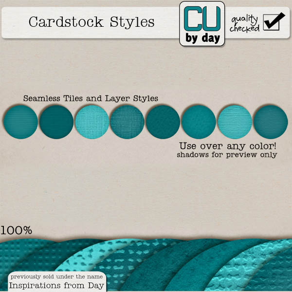 Cardstock Styles - CUbyDay EXCLUSIVE