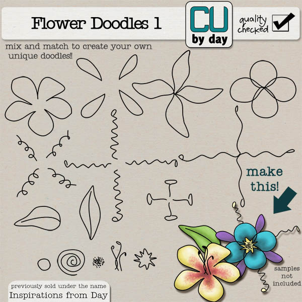Build-A-Doodle Flowers - CUbyDay EXCLUSIVE