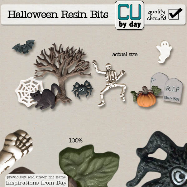 Halloween Resin Bits - CUbyDay EXCLUSIVE