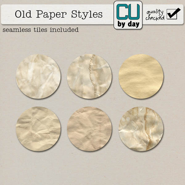 Old Paper Styles - CUbyDay EXCLUSIVE