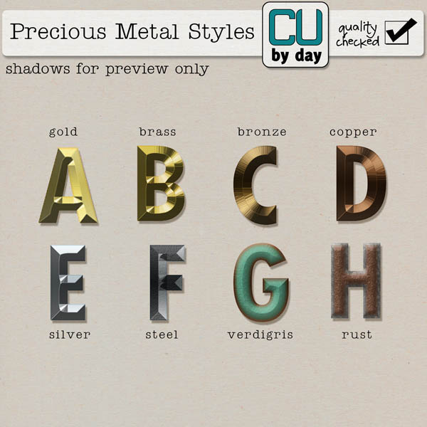 Precious Metal Styles - CUbyDay EXCLUSIVE