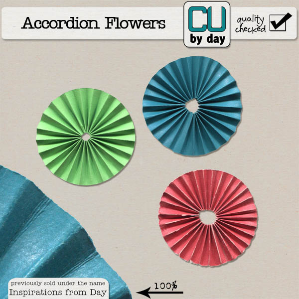 Accordion Flowers - CUbyDay EXCLUSIVE