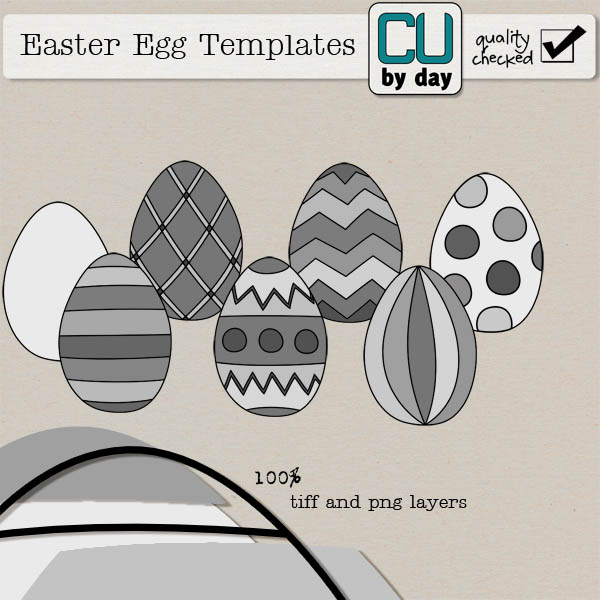 Easter Egg Templates - CUbyDay EXCLUSIVE