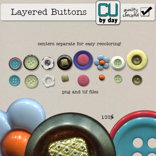 Layered Buttons - CUbyDay EXCLUSIVE