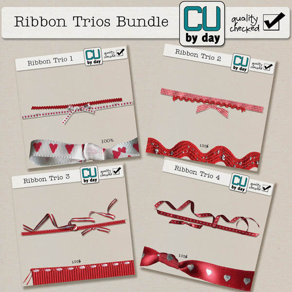Ribbon Trios Bundle - CUbyDay EXCLUSIVE