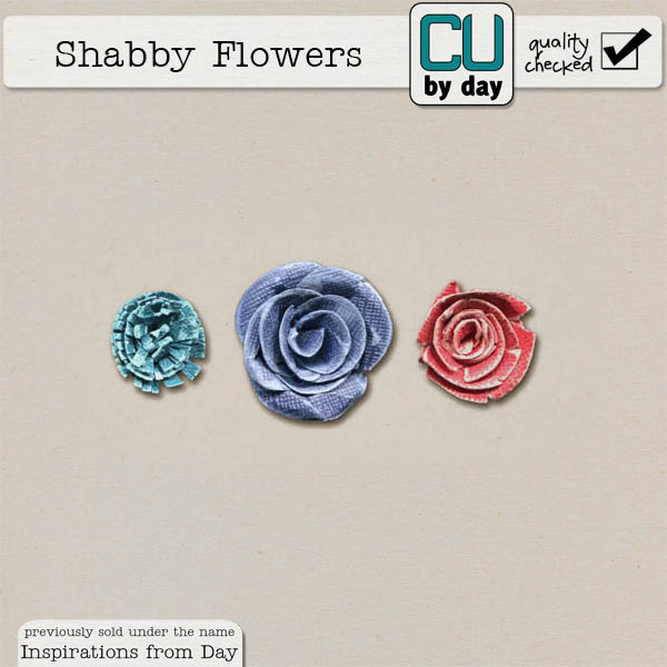 Shabby Paper Flowers - CUbyDay EXCLUSIVE