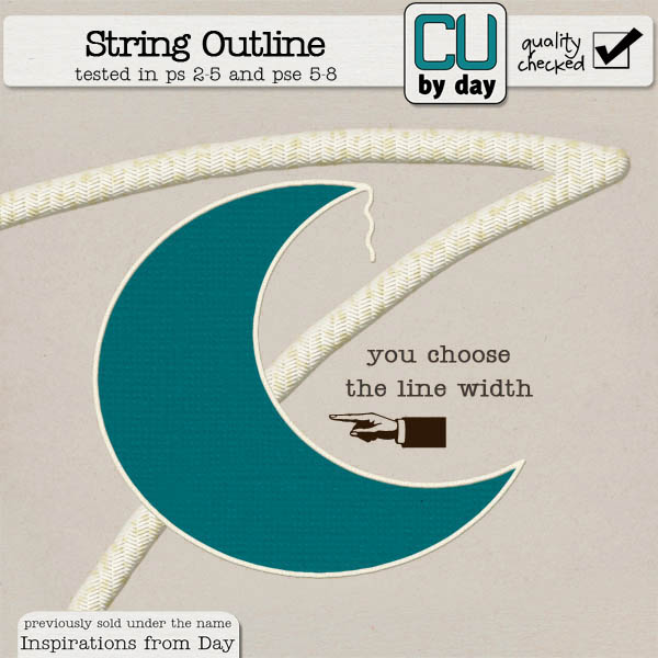 String Outline Action - CUbyDay EXCLUSIVE