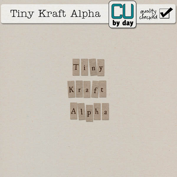 Tiny Kraft Alphabet - CUbyDay EXCLUSIVE