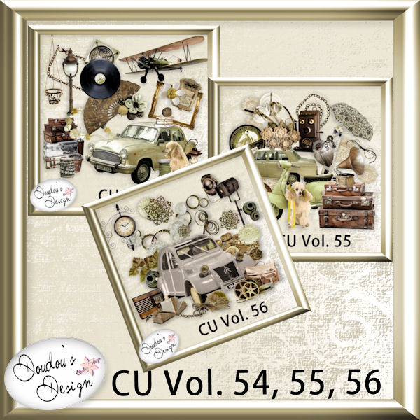 Vol. 54, 55 & 56 Vintage Element pack by Doudou Design