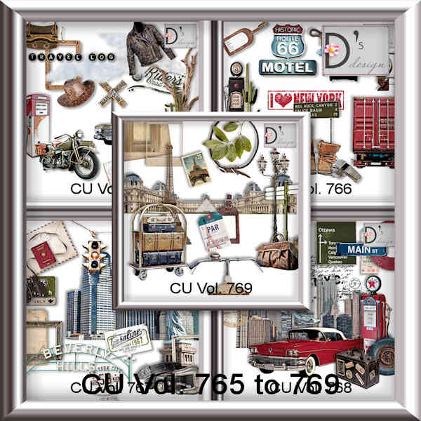 Vol 765 to 769 Travel World by Doudou Design