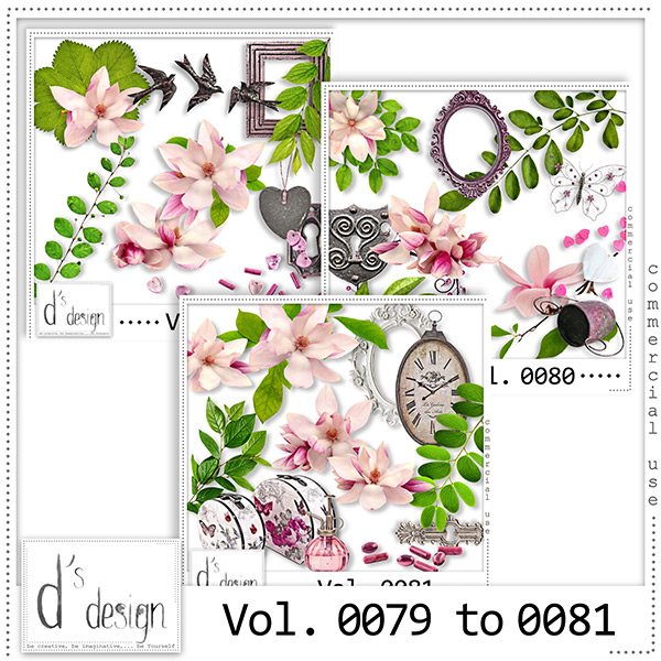 Vol. 0079 to 0081 Floral Mix by Doudou Design
