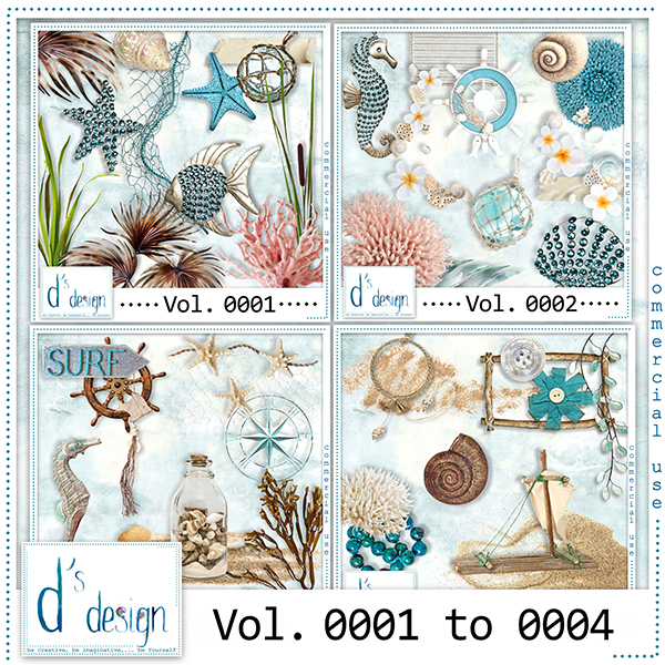 Vol. 0001 to 0004 Beach Mix by Doudou Design