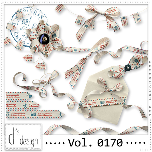 Vol. 0170 Post Mail Ribbons Mix by Doudou Design