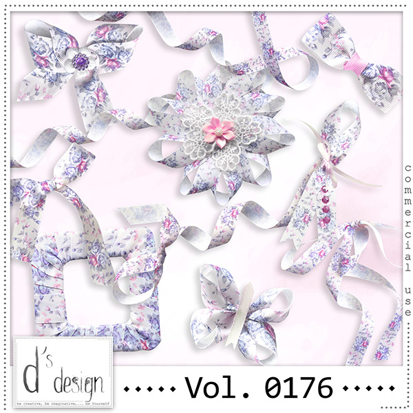 Vol. 0176 Floral Ribbons Mix by Doudou Design