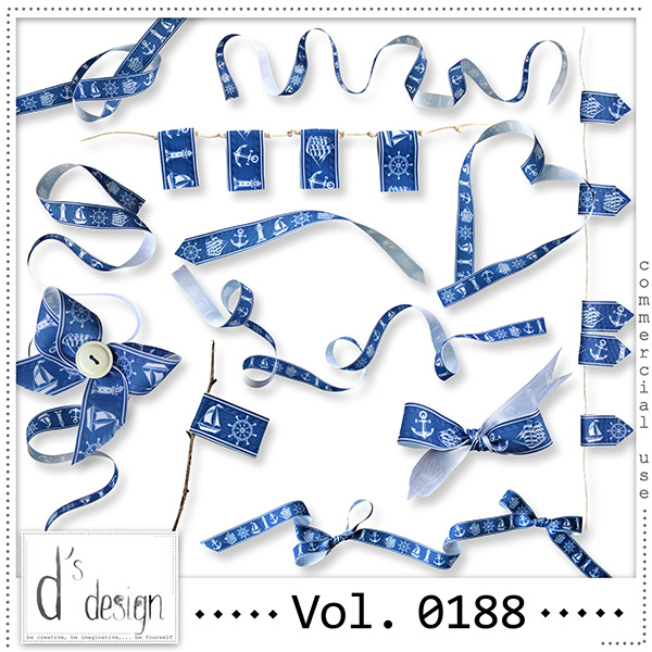 Vol. 0188 Nautical Ribbons Mix by Doudou Design