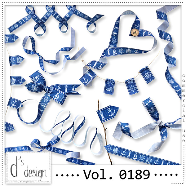 Vol. 0189 Nautical Ribbons Mix by Doudou Design