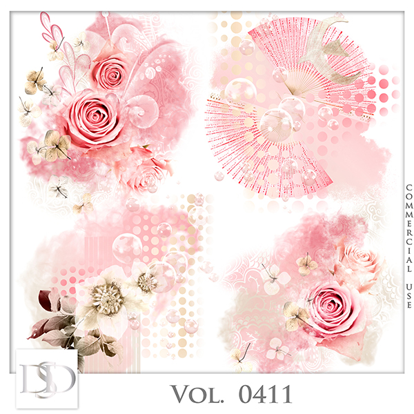 Vol. 0411 Floral Accents by D's Design