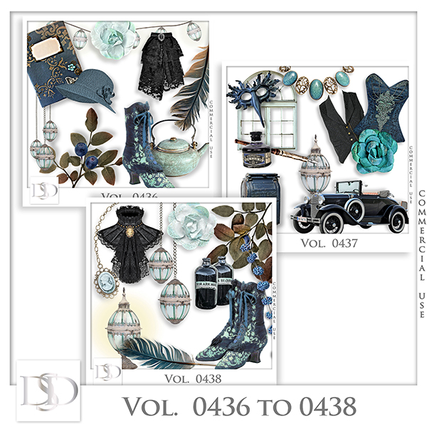 Vol. 0436 to 0438 Vintage Mix by D's Design